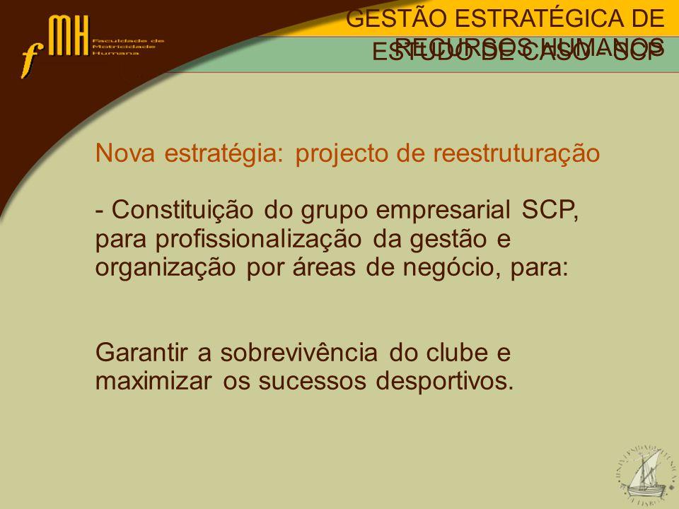 Nova estratégia: projecto de reestruturação