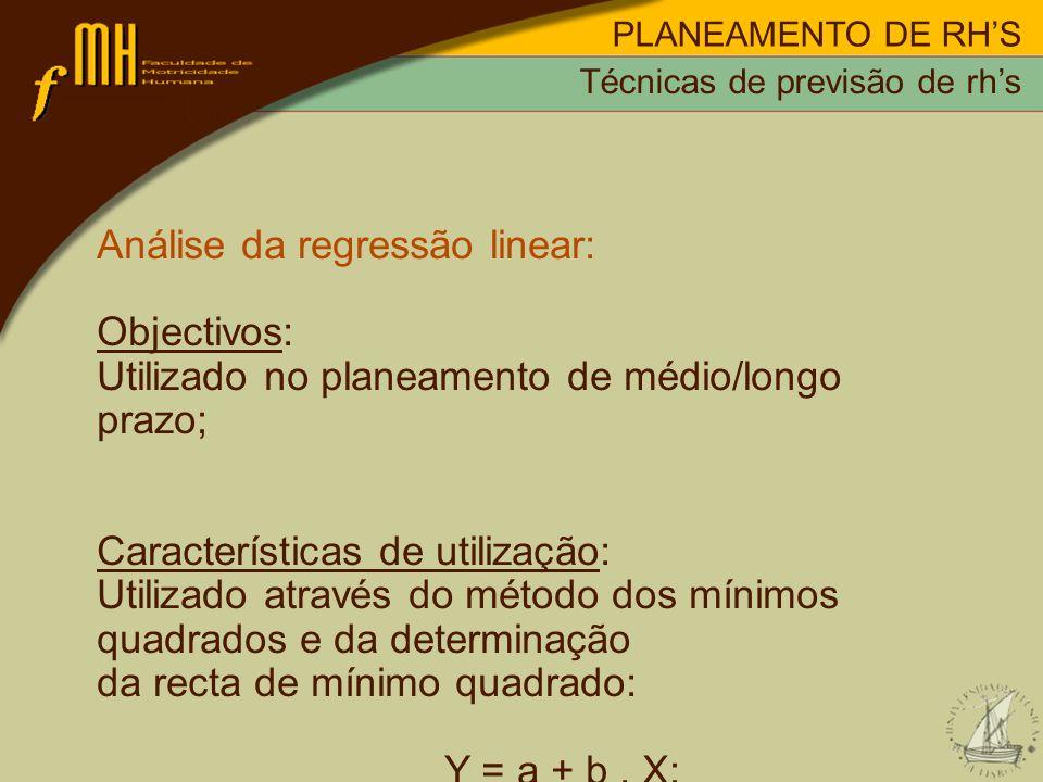 Análise da regressão linear: Objectivos:
