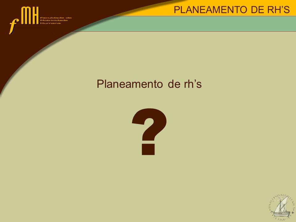 PLANEAMENTO DE RH'S Planeamento de rh's