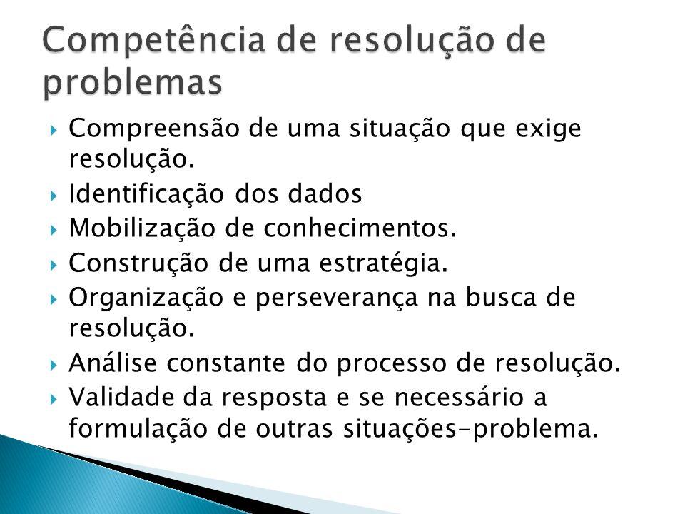 Competência de resolução de problemas
