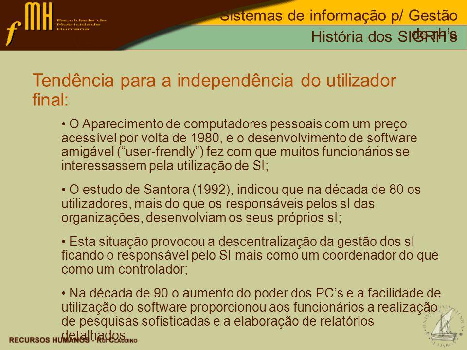 Tendência para a independência do utilizador final: