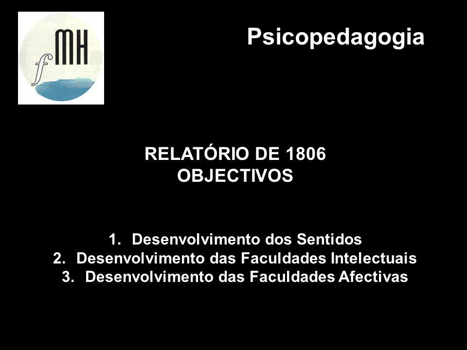 Psicopedagogia RELATÓRIO DE 1806 OBJECTIVOS