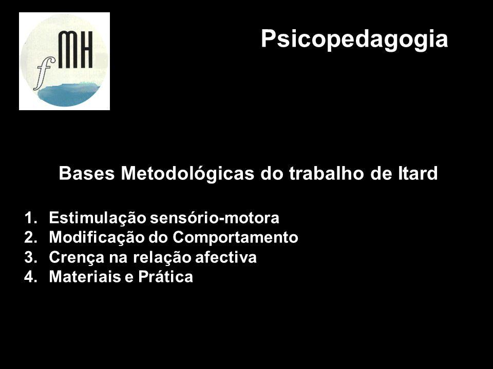 Bases Metodológicas do trabalho de Itard