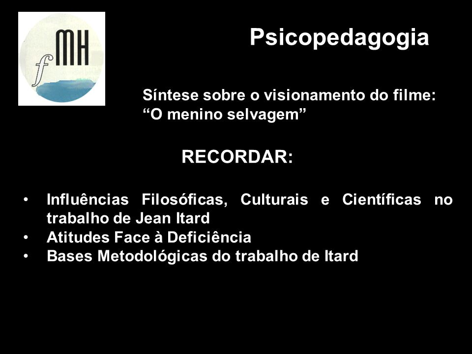 Psicopedagogia RECORDAR: