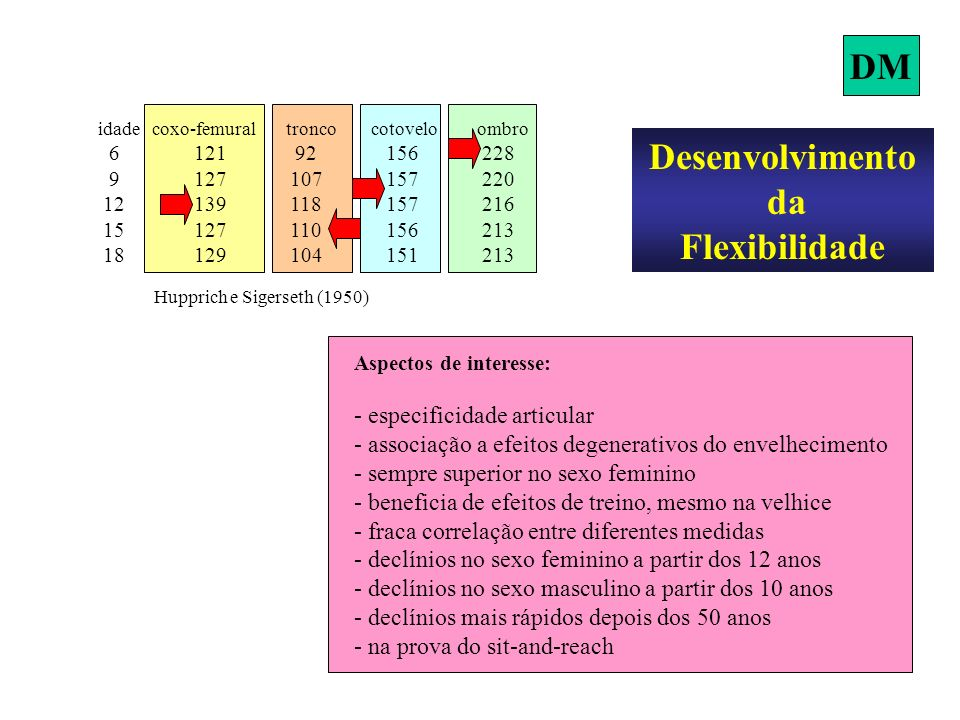 DM Desenvolvimento da Flexibilidade