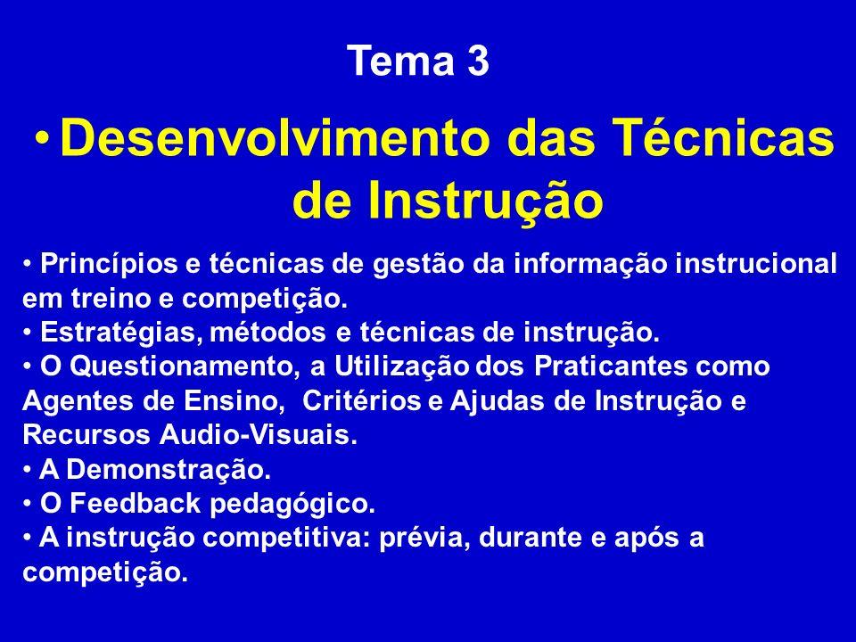 Desenvolvimento das Técnicas de Instrução
