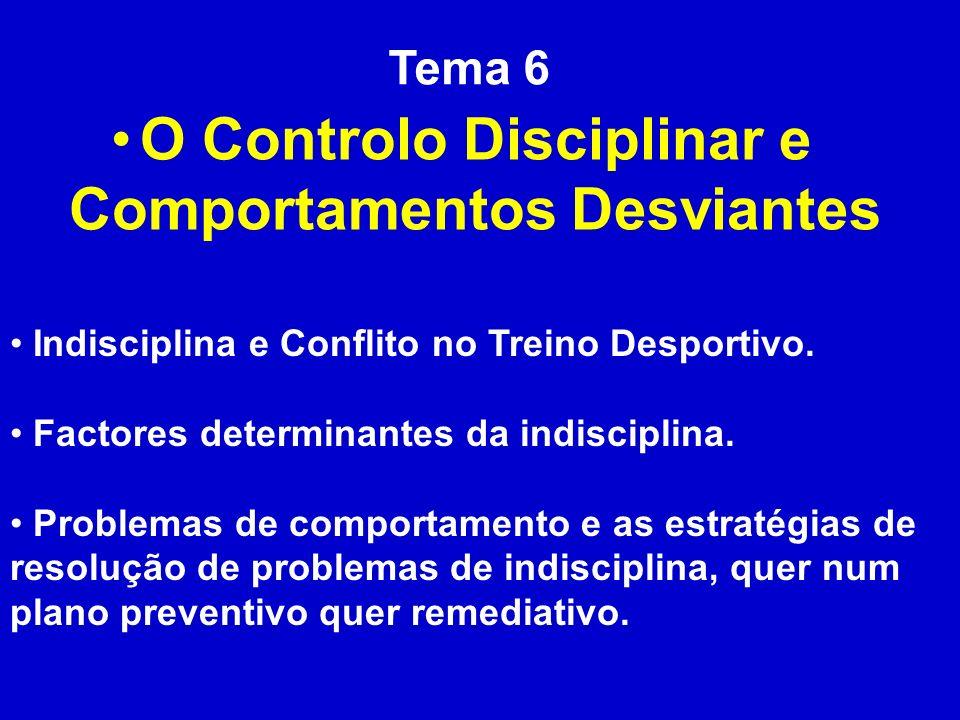 O Controlo Disciplinar e Comportamentos Desviantes
