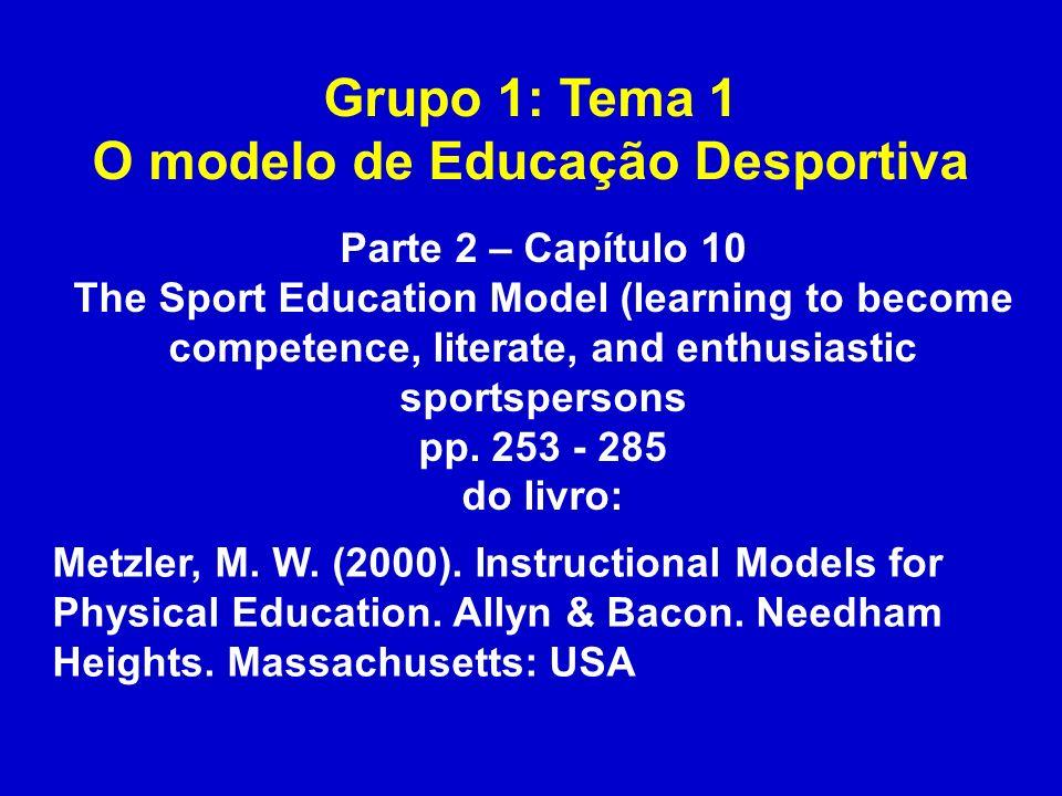 O modelo de Educação Desportiva