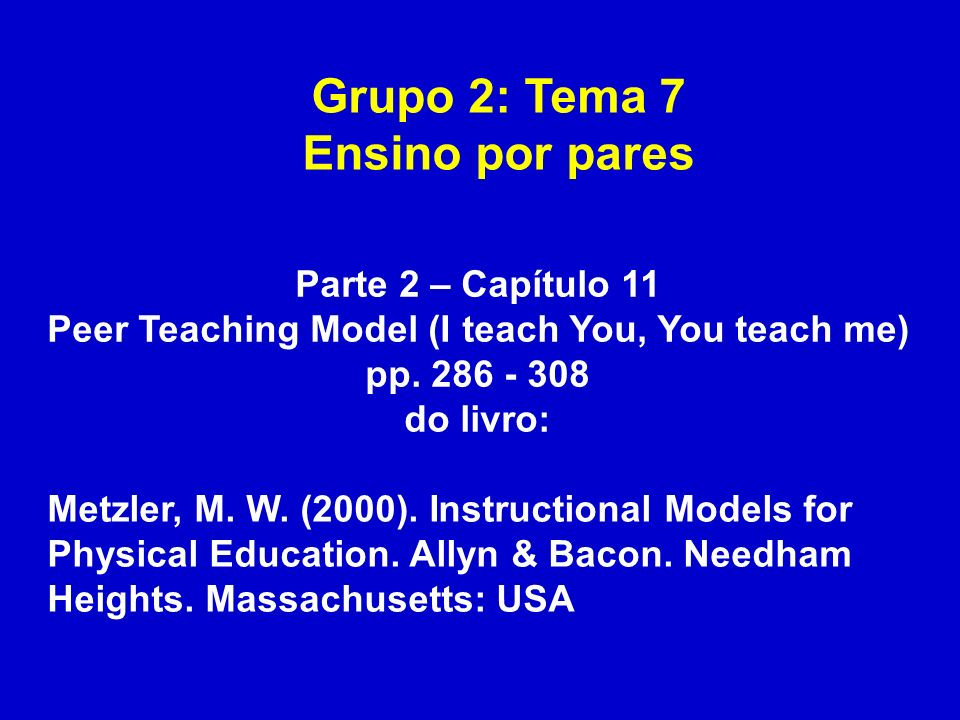 Peer Teaching Model (I teach You, You teach me)