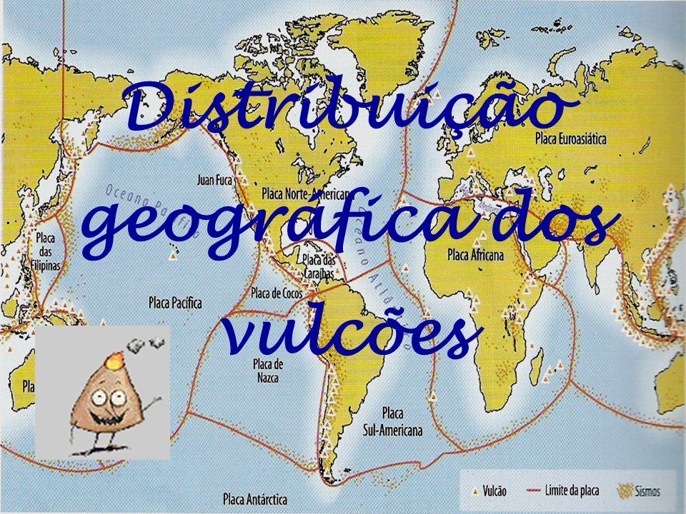 Distribuição geográfica dos vulcões