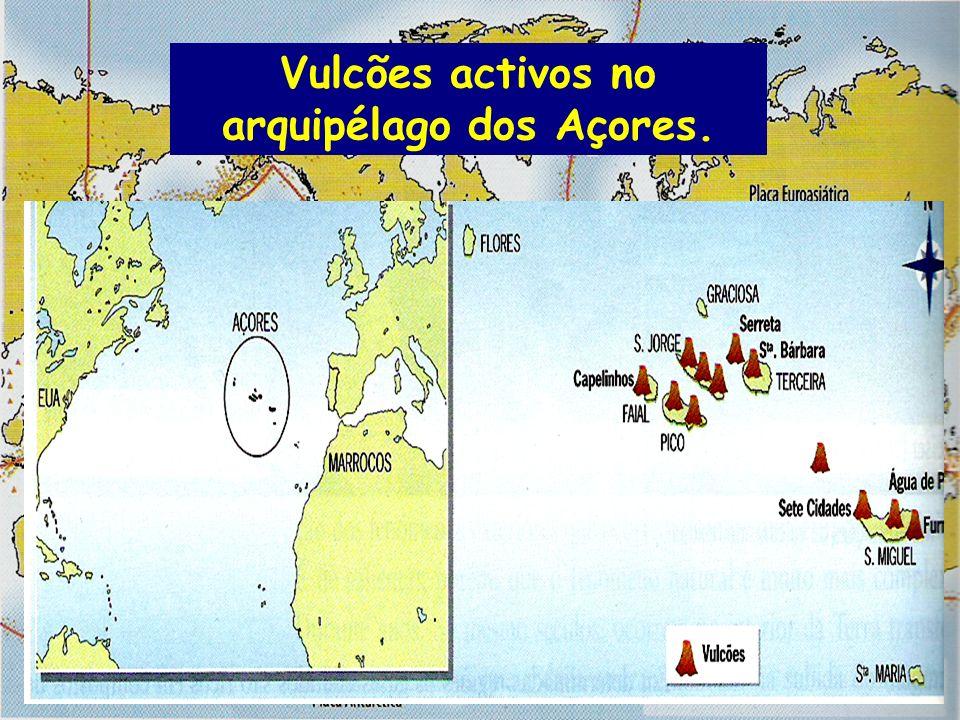 Vulcões activos no arquipélago dos Açores.