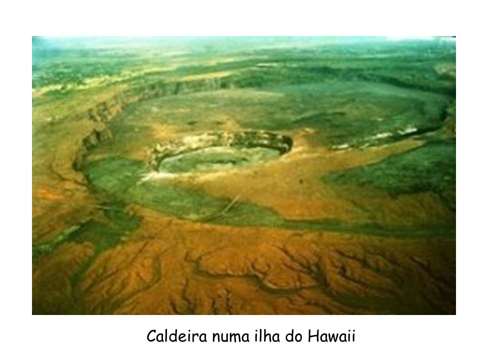 Caldeira numa ilha do Hawaii