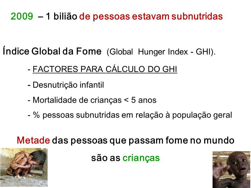 Metade das pessoas que passam fome no mundo