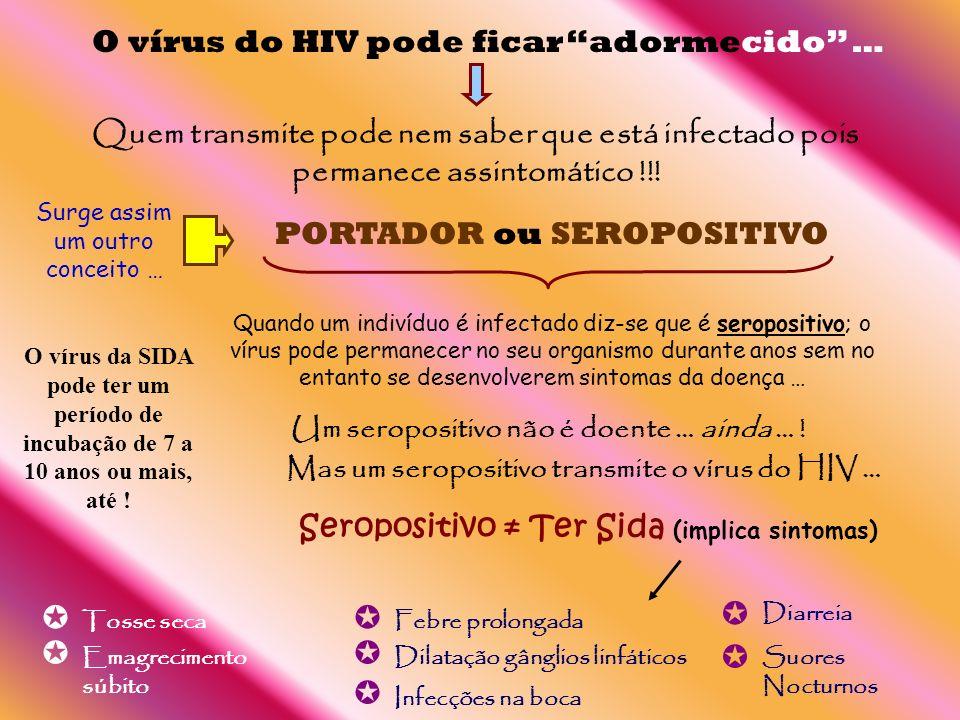        O vírus do HIV pode ficar adormecido …