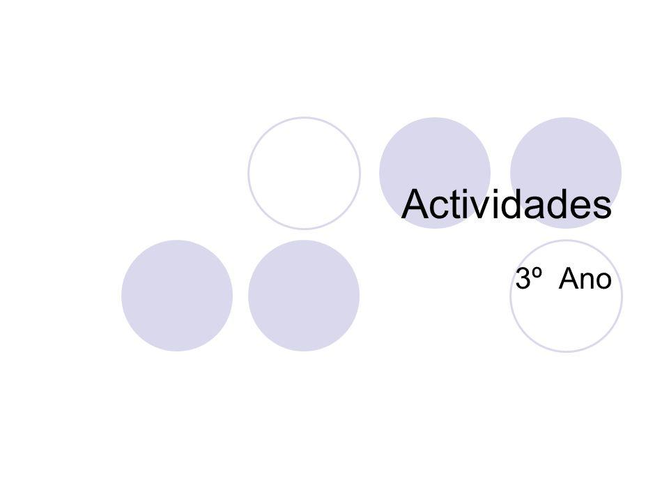 Actividades 3º Ano