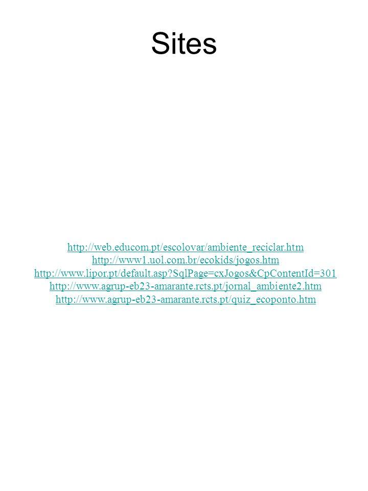 Sites http://web.educom.pt/escolovar/ambiente_reciclar.htm