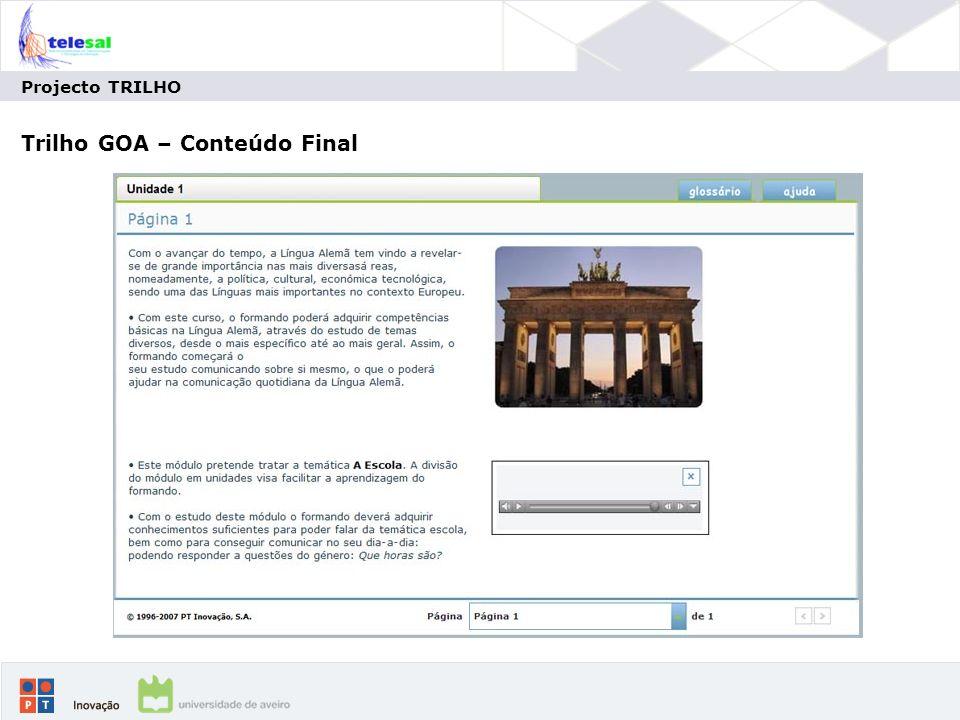 Trilho GOA – Conteúdo Final