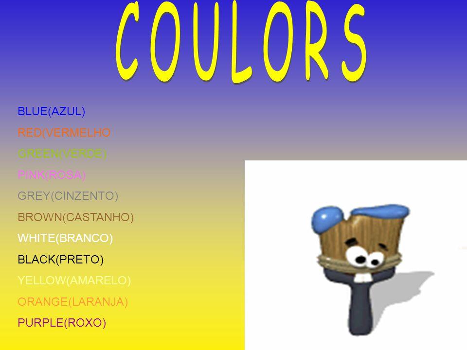 COULORS BLUE(AZUL) RED(VERMELHO GREEN(VERDE) PINK(ROSA) GREY(CINZENTO)
