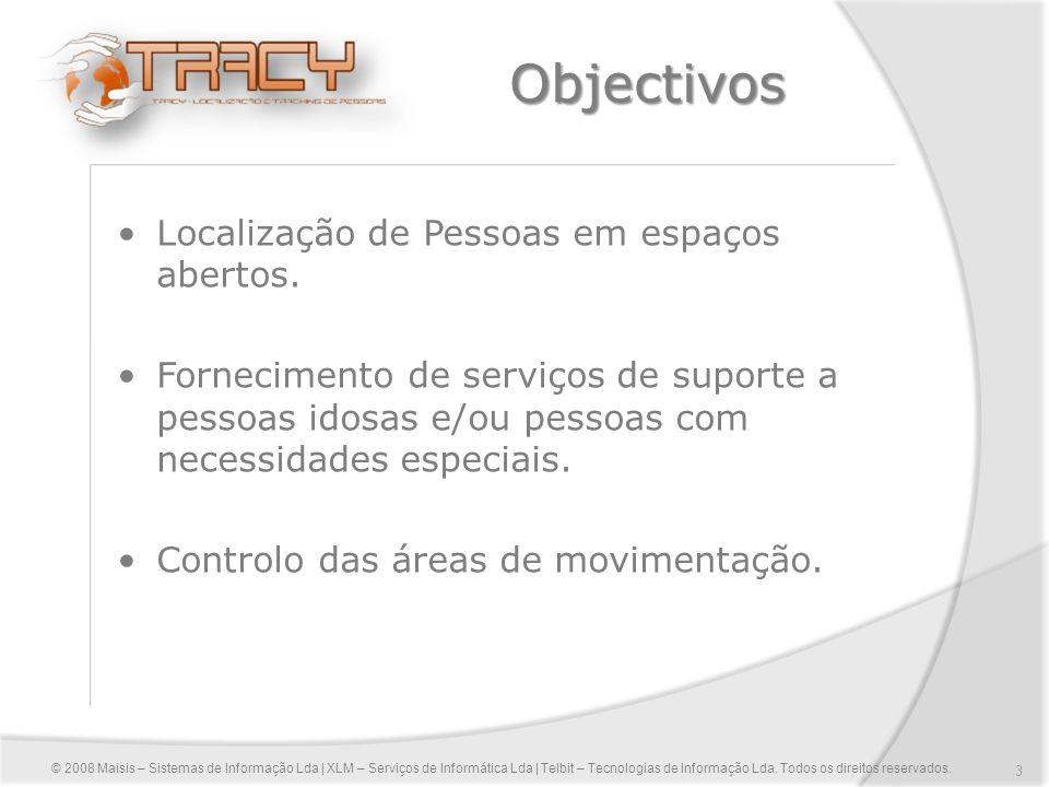 Objectivos Localização de Pessoas em espaços abertos.
