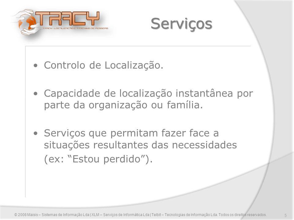 Serviços Controlo de Localização.