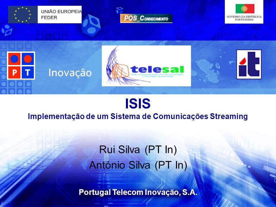 ISIS Implementação de um Sistema de Comunicações Streaming