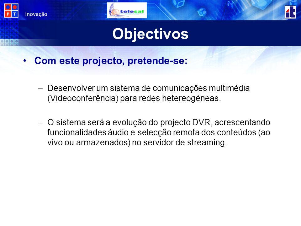 Objectivos Com este projecto, pretende-se:
