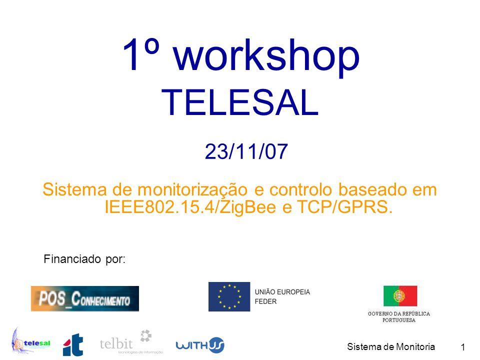 1º workshop TELESAL 23/11/07. Sistema de monitorização e controlo baseado em IEEE802.15.4/ZigBee e TCP/GPRS.