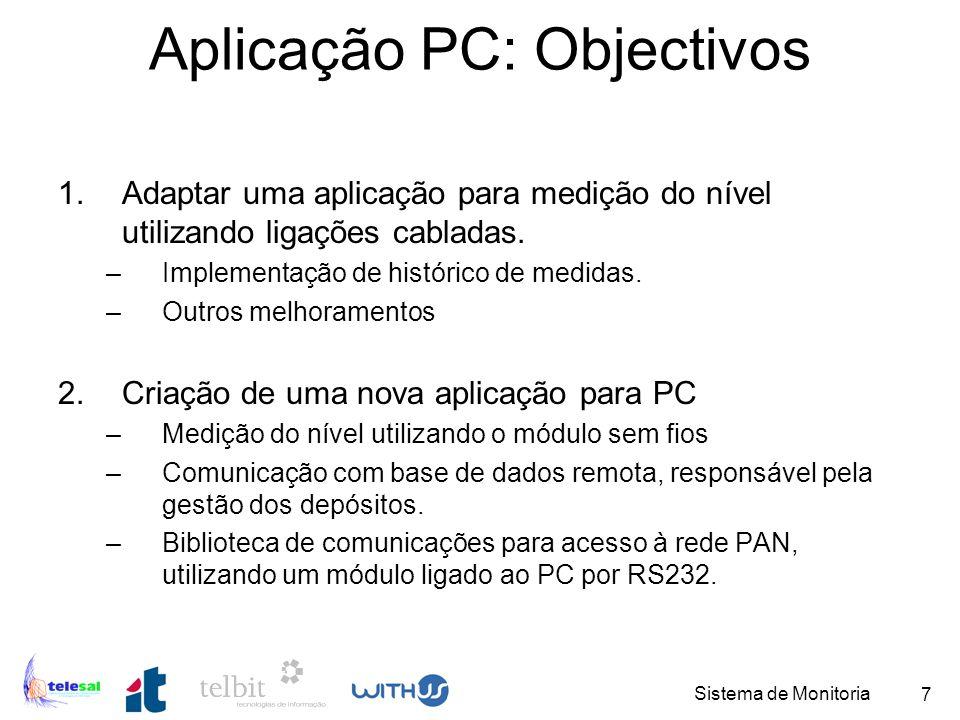 Aplicação PC: Objectivos