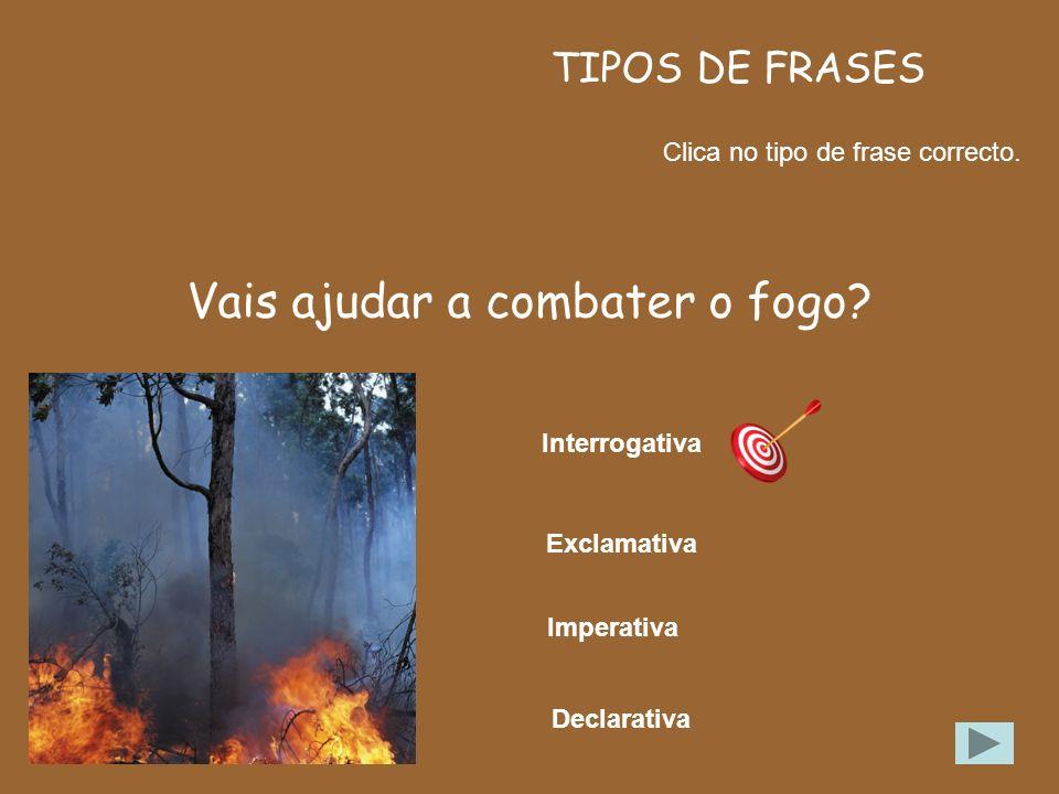 Vais ajudar a combater o fogo