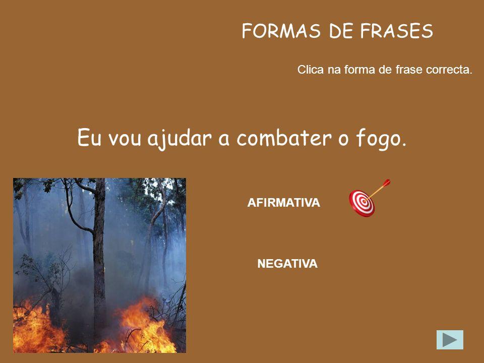 Eu vou ajudar a combater o fogo.
