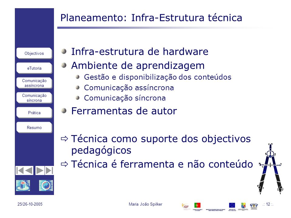 Planeamento: Infra-Estrutura técnica