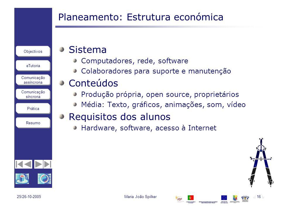 Planeamento: Estrutura económica