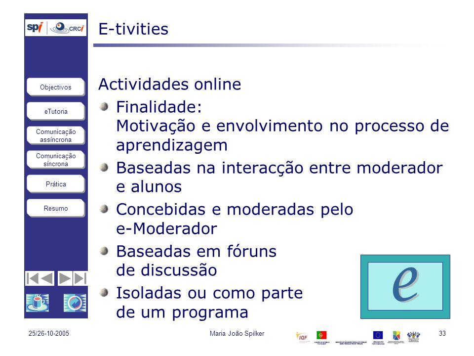 e E-tivities Actividades online