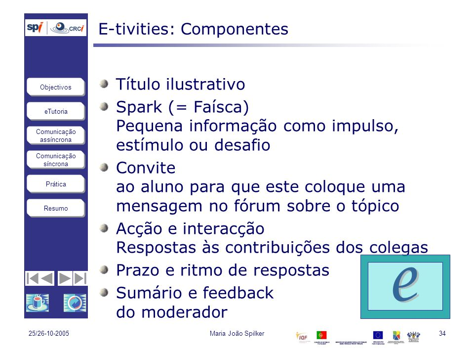 E-tivities: Componentes