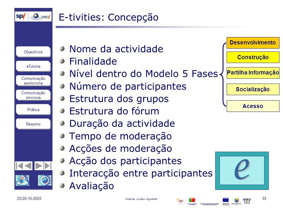 E-tivities: Concepção
