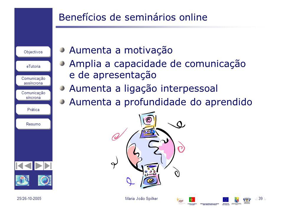 Benefícios de seminários online