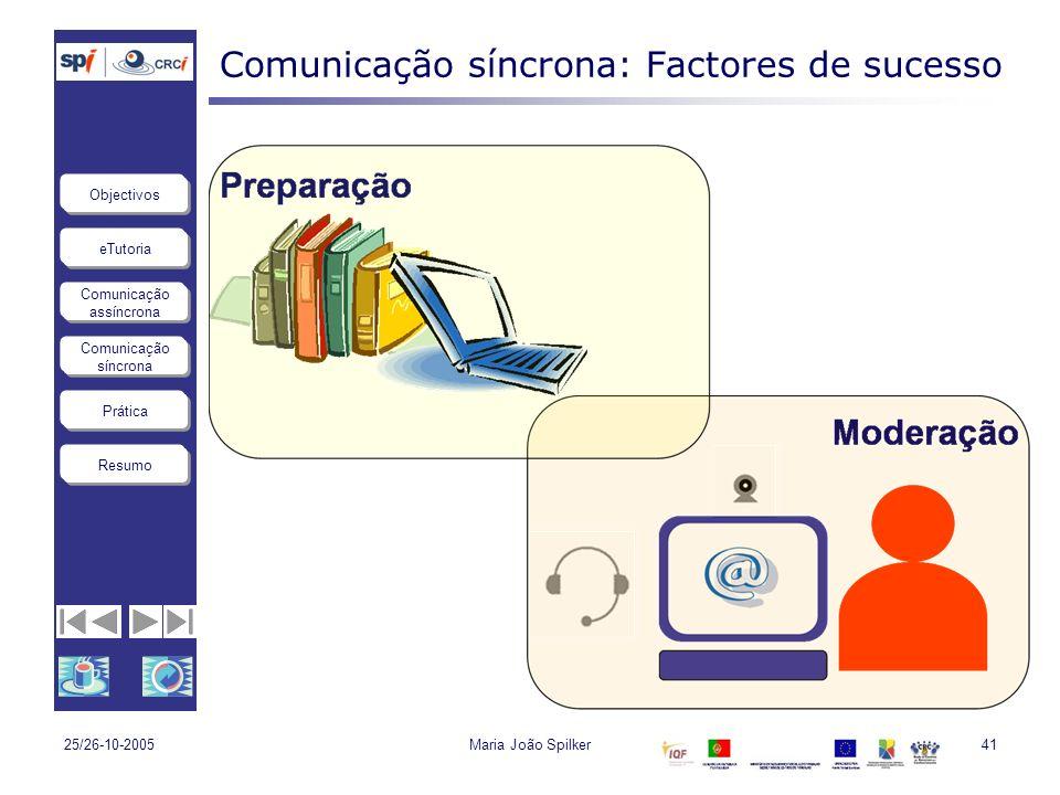 Comunicação síncrona: Factores de sucesso