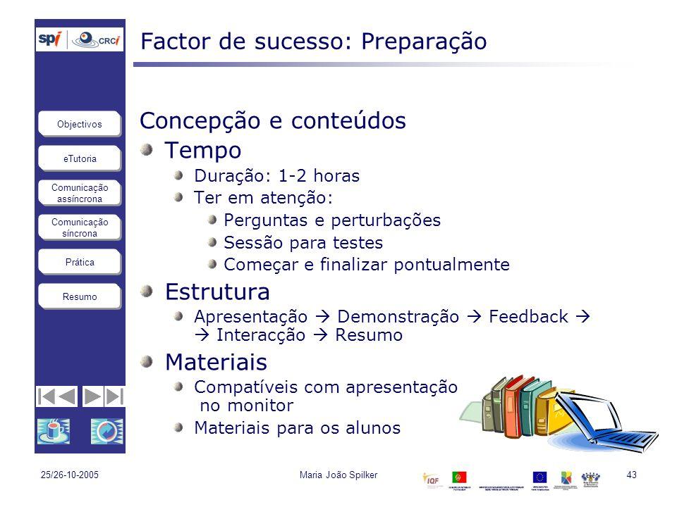 Factor de sucesso: Preparação