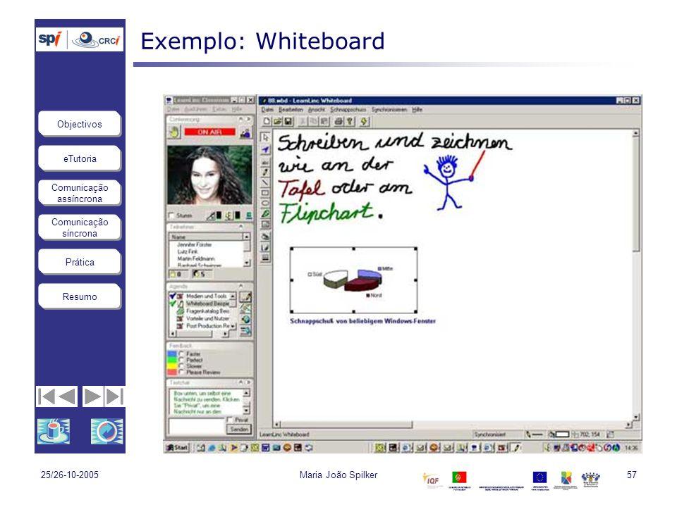 Exemplo: Whiteboard 25/26-10-2005 Maria João Spilker
