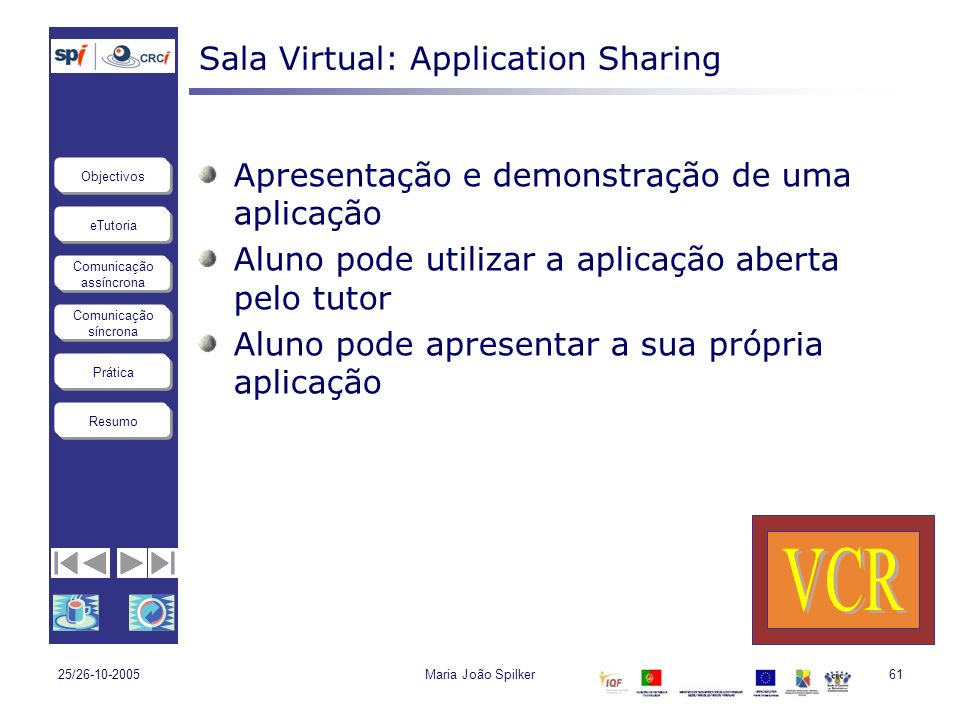 Sala Virtual: Application Sharing