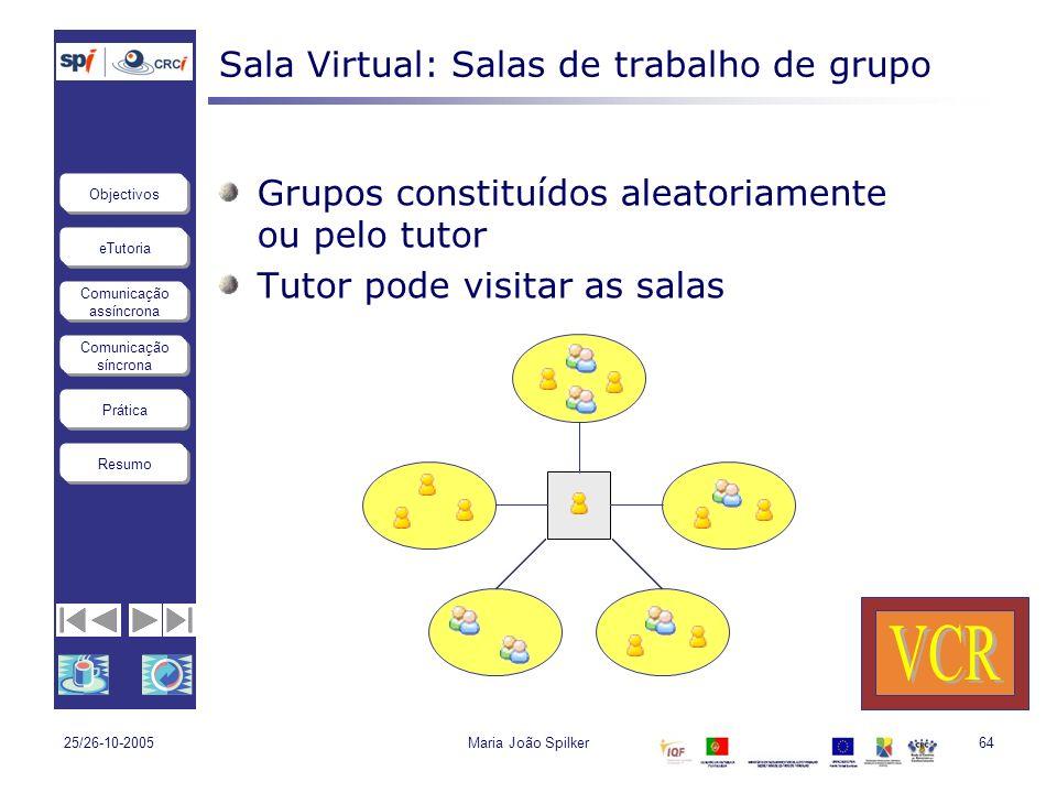 Sala Virtual: Salas de trabalho de grupo