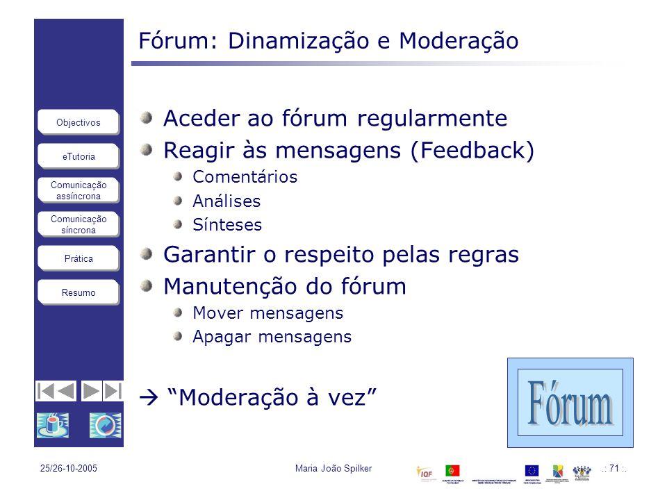 Fórum: Dinamização e Moderação