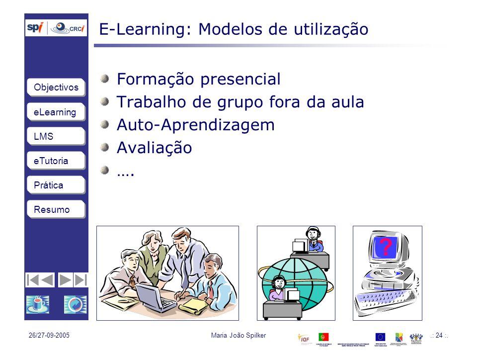 E-Learning: Modelos de utilização