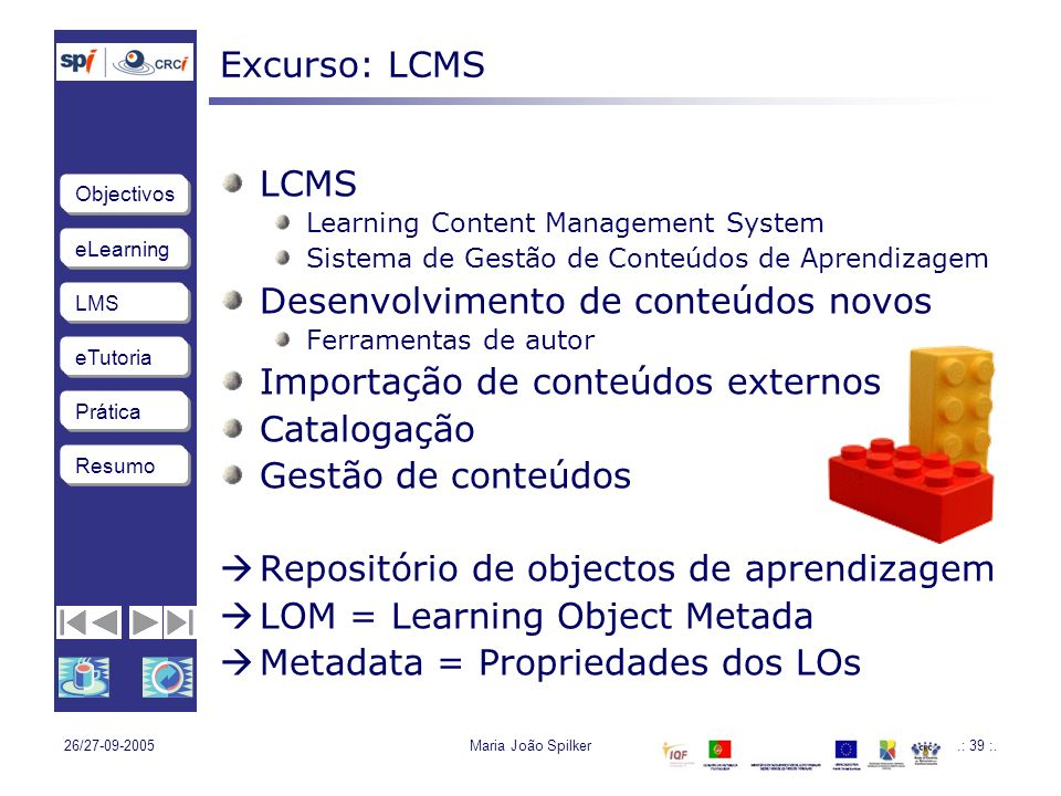 Desenvolvimento de conteúdos novos Importação de conteúdos externos