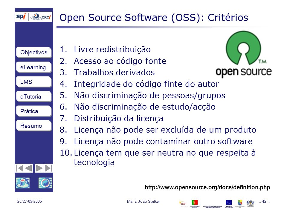 Open Source Software (OSS): Critérios