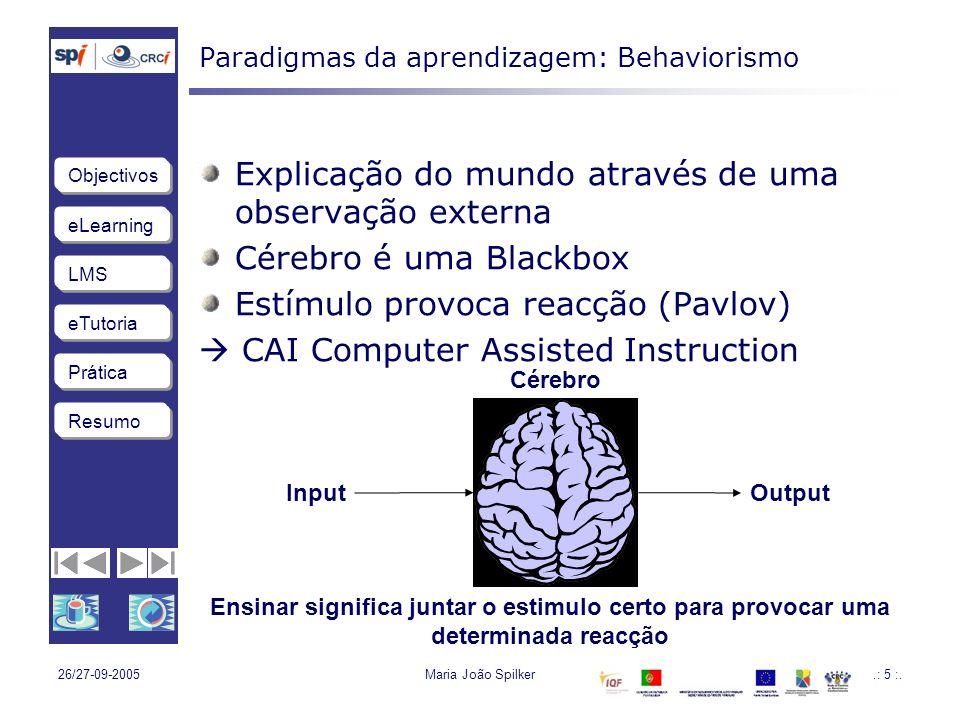 Paradigmas da aprendizagem: Behaviorismo