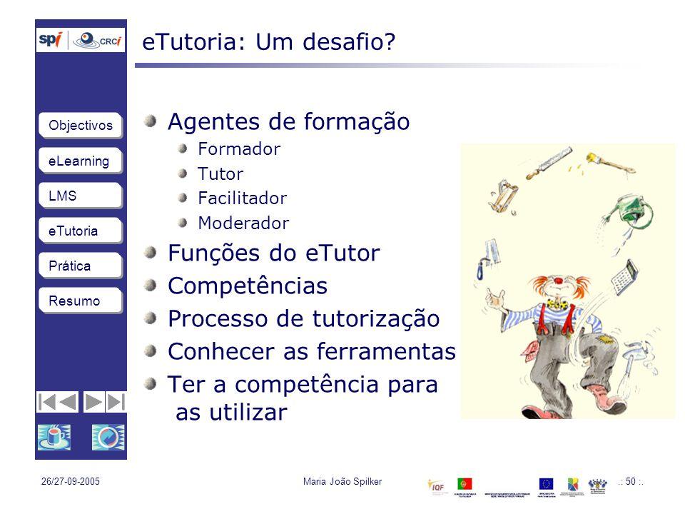 Processo de tutorização Conhecer as ferramentas