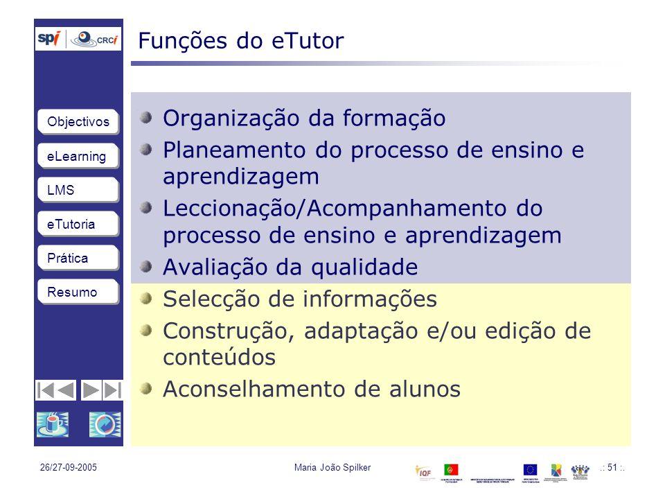 Organização da formação
