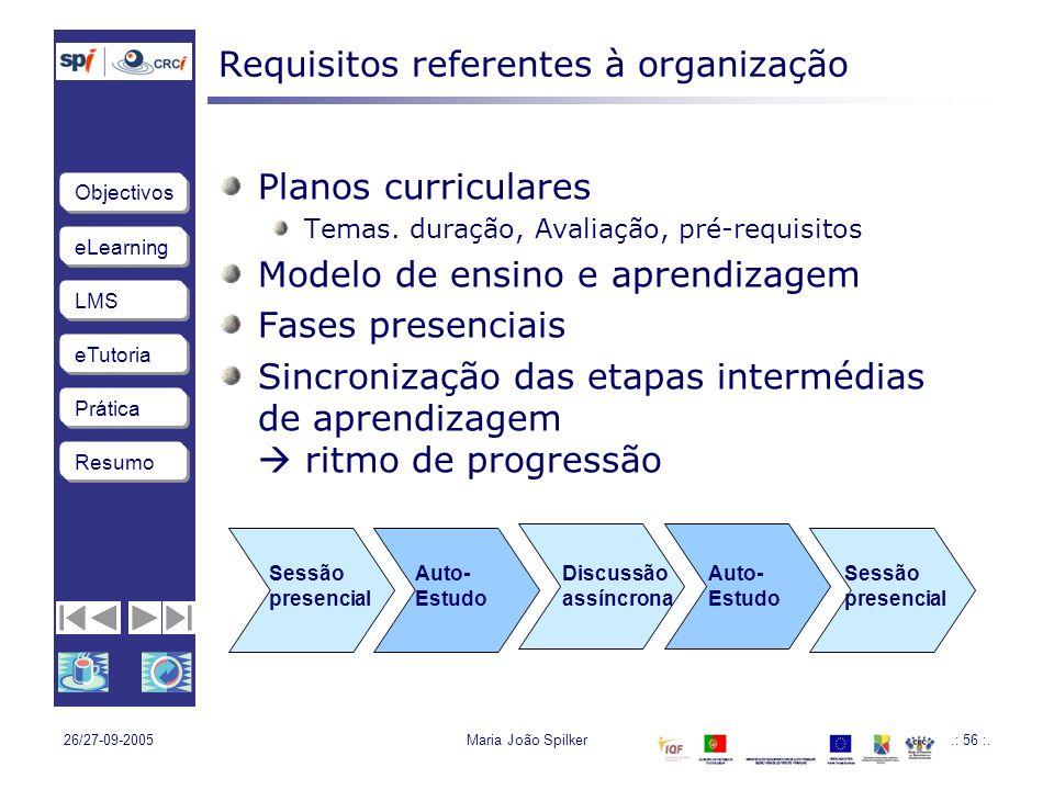 Requisitos referentes à organização