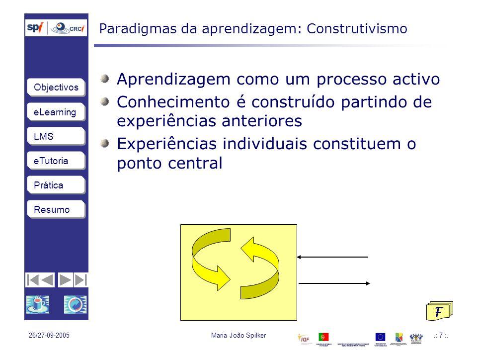 Paradigmas da aprendizagem: Construtivismo